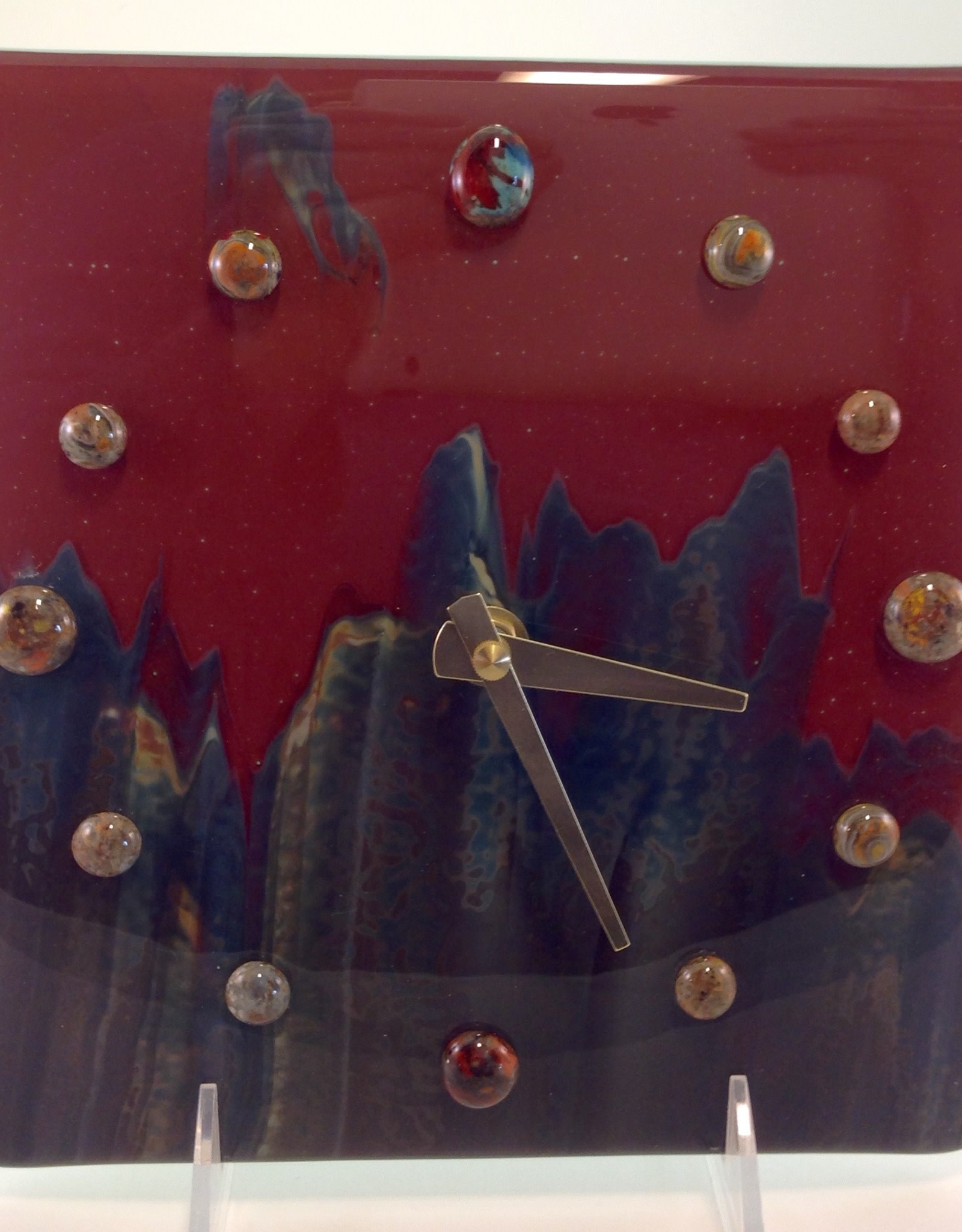Ann Mackiernan Petrified Wood Wall Clock