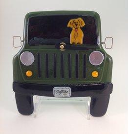 Ann Mackiernan Jeep Joy Ride Wall Clock