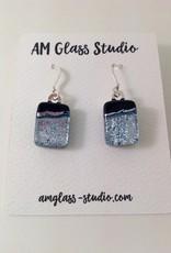 Ann Mackiernan Fused Glass Earrings Medium - M44