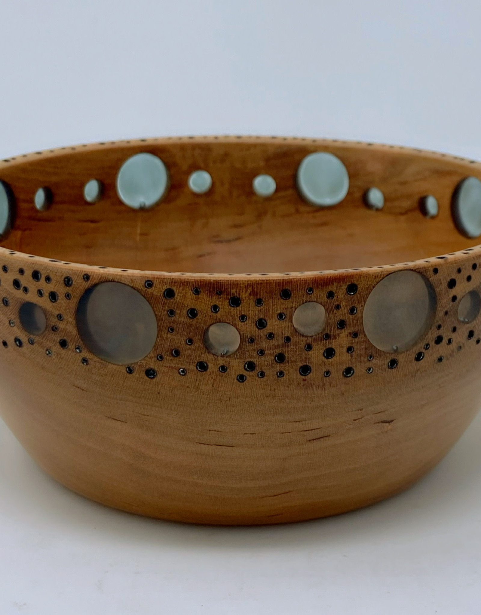"Ron and Ellie Purvis MHC - ""Outlook"" - Cherry Wood & Resin Bowl"