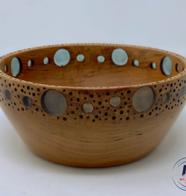 """Ron and Ellie Purvis MHC - """"Outlook"""" - Cherry Wood & Resin Bowl"""