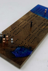 "Ron and Ellie Purvis MHC - ""Bluebell"" Cribbage Board"