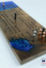 """Ron and Ellie Purvis MHC - """"Bluebell"""" Cribbage Board"""