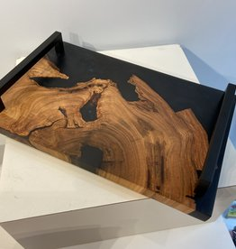 "Ron and Ellie Purvis MHC - ""Final Frontier"" Wood and Resin Serving Tray"