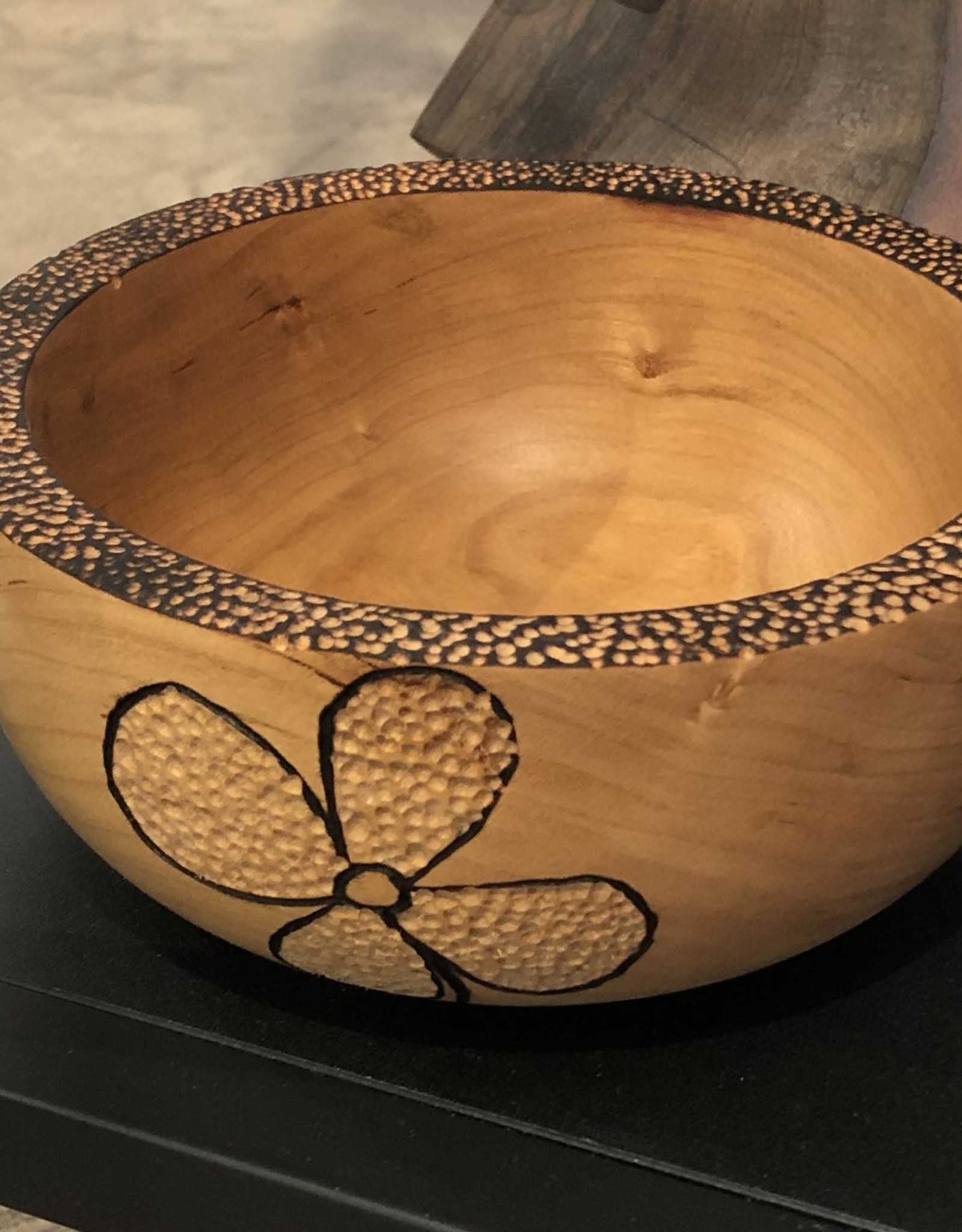 Ron and Ellie Purvis MHC - Flower Bowl Cherry Wood
