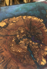 """Ron and Ellie Purvis MHC - """"Asteroids""""- Wood and Resin Coasters (set of 4)"""