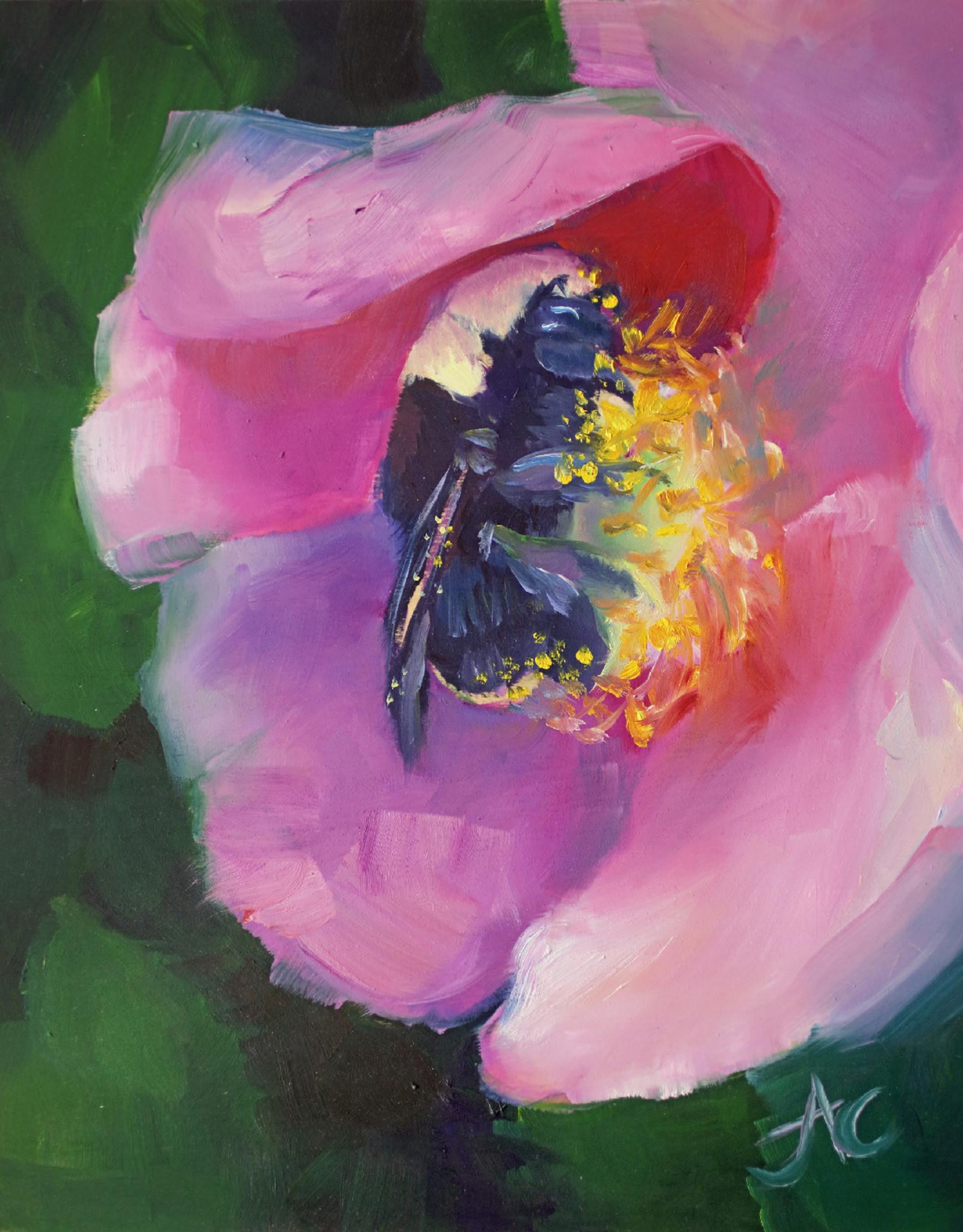 Jennifer Cook-Chrysos Chrysos Designs Artworks, Summer Sanctuary, 8 x 10, oil on panel