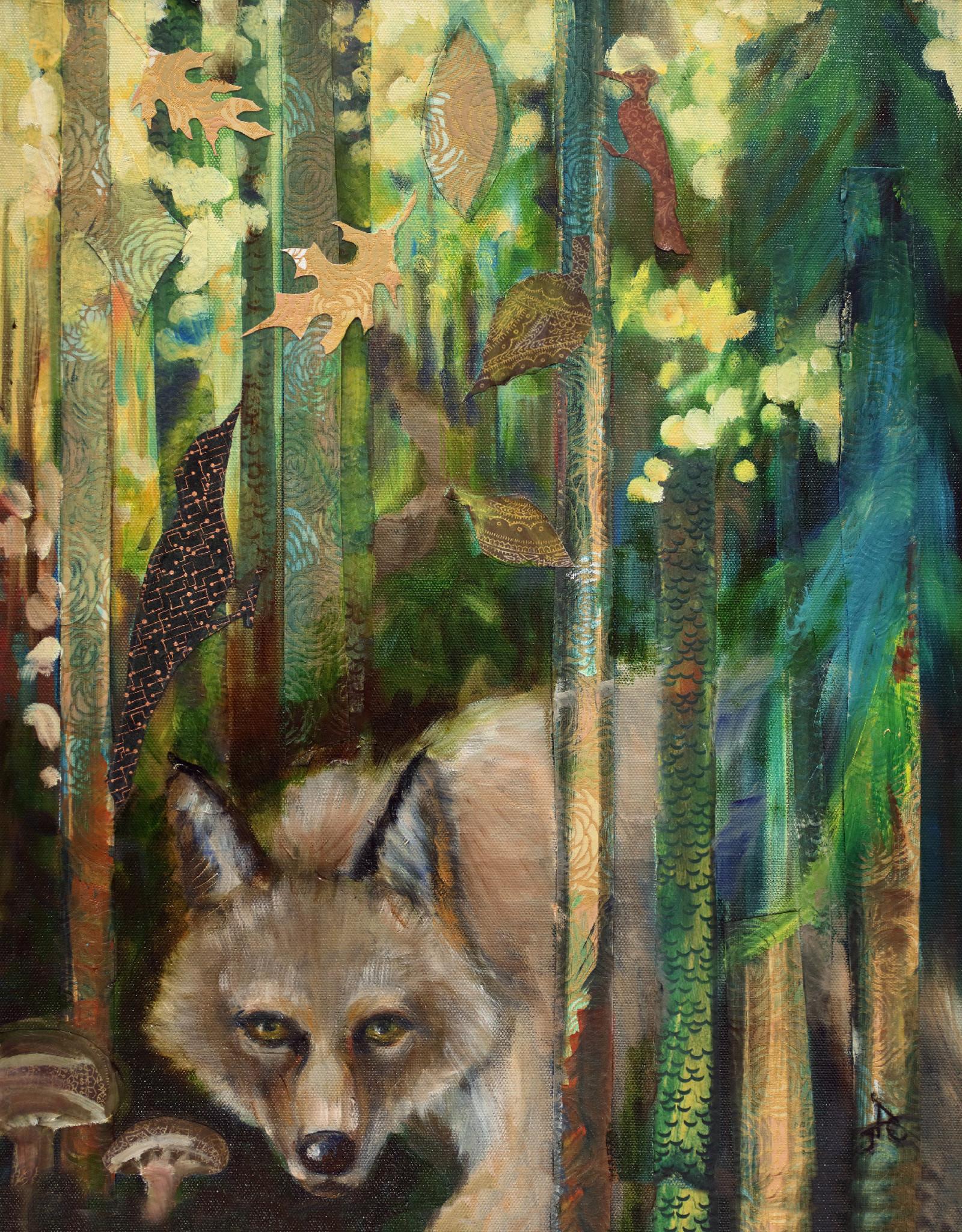 Jennifer Cook-Chrysos Chrysos Designs Artworks, Archival Print-Coyote, 16 x 20