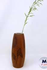 Ron and Ellie Purvis MHC - Leaf 1 Walnut Vase