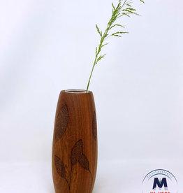 Ron and Ellie Purvis MHC - Leaf 1 Sapele Vase