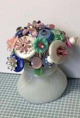 Karen Friedstrom Posie            Milk glass