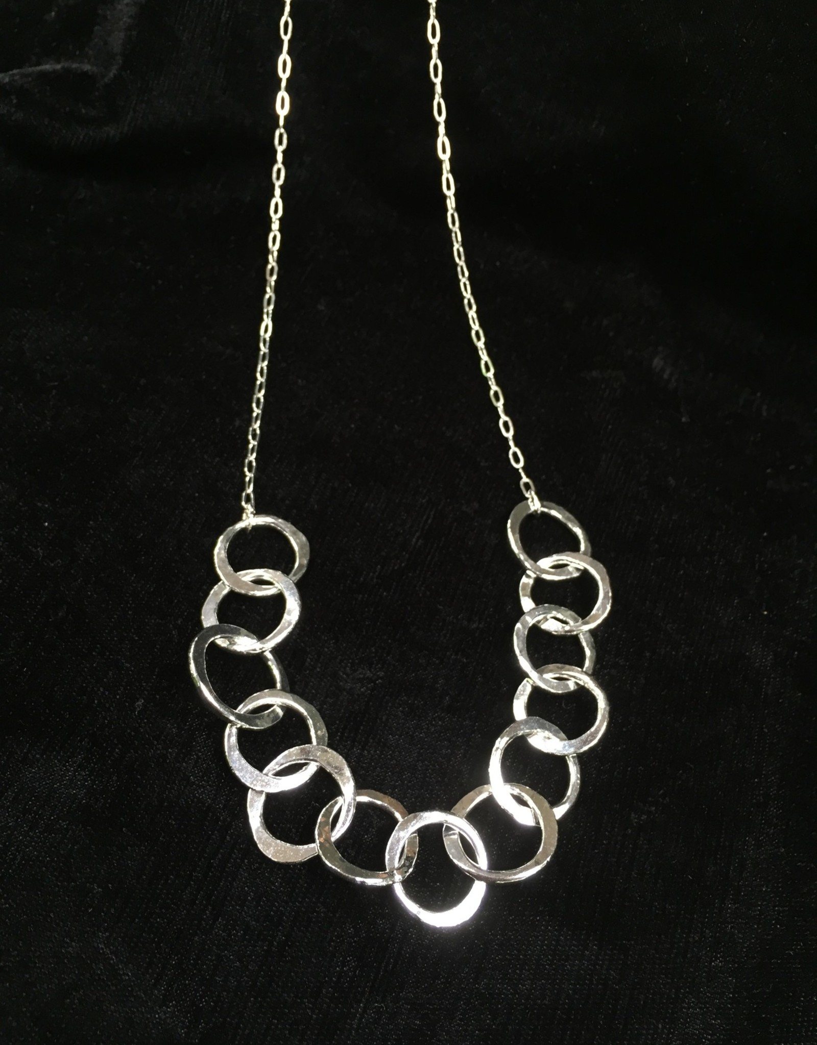 """Susan Hunter Bodie/necklace/sterling/fine silver link 24"""""""