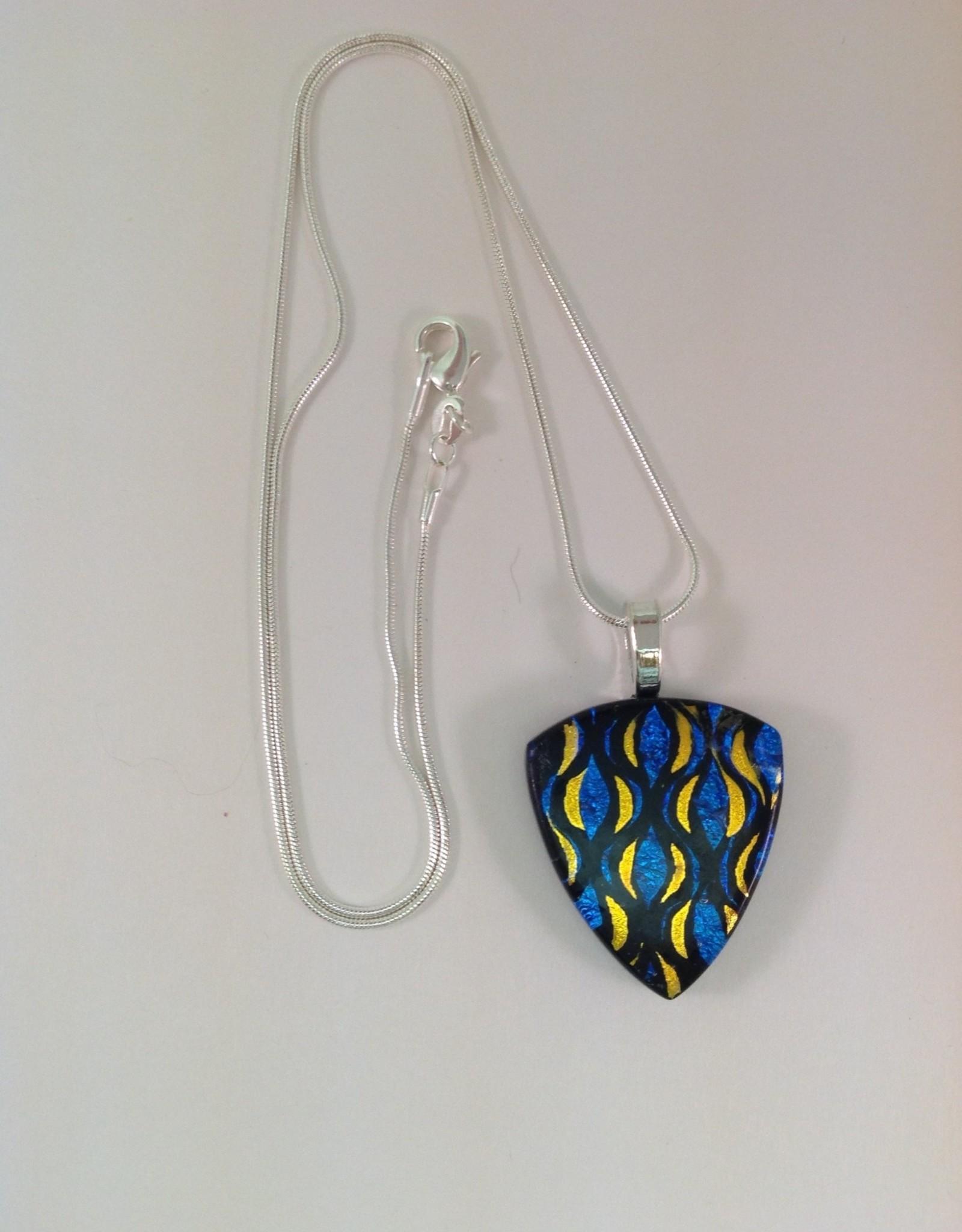 Ann Mackiernan Fused Glass Pendant Medium - M47
