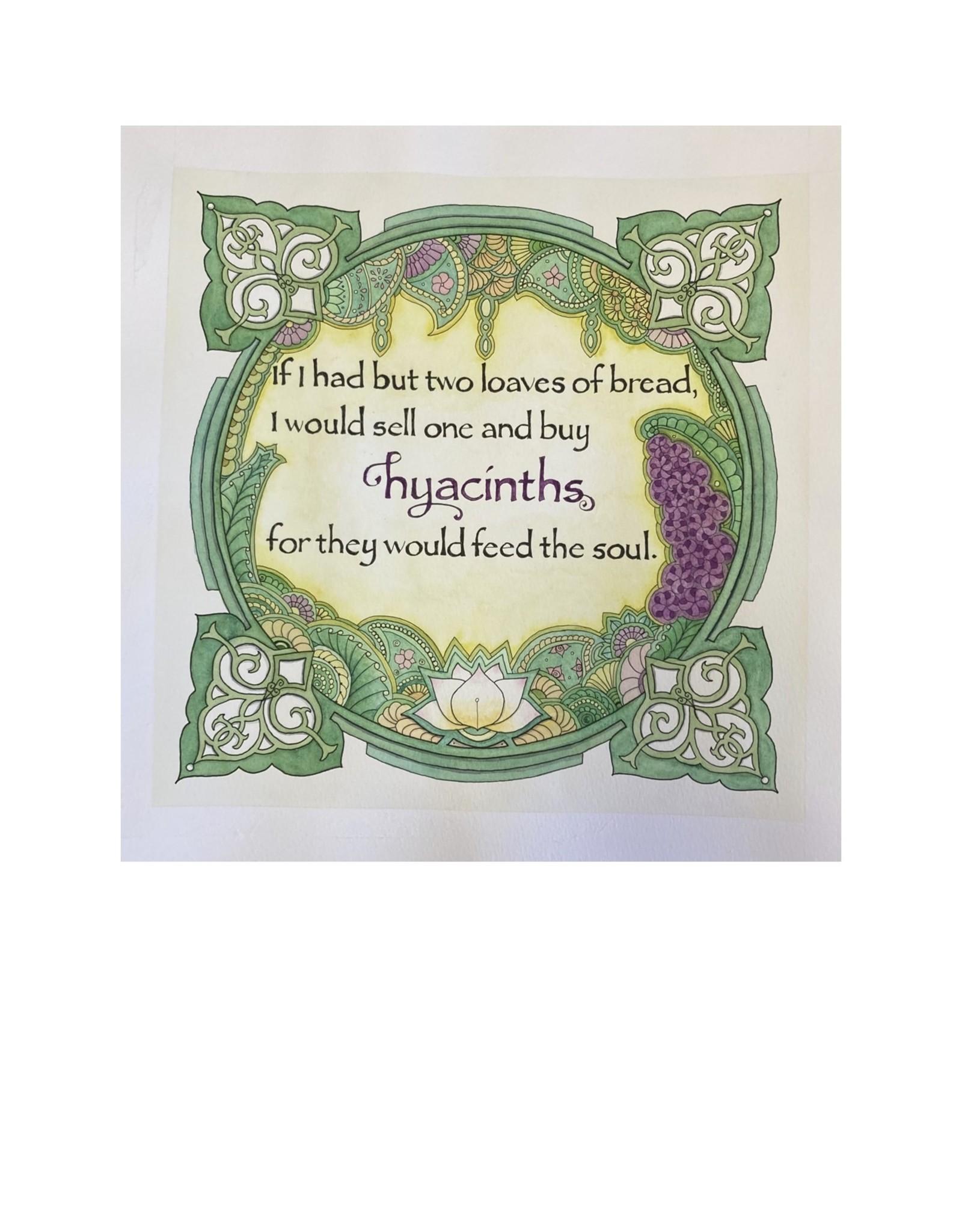 Kelly Casperson Hyacinths framed original