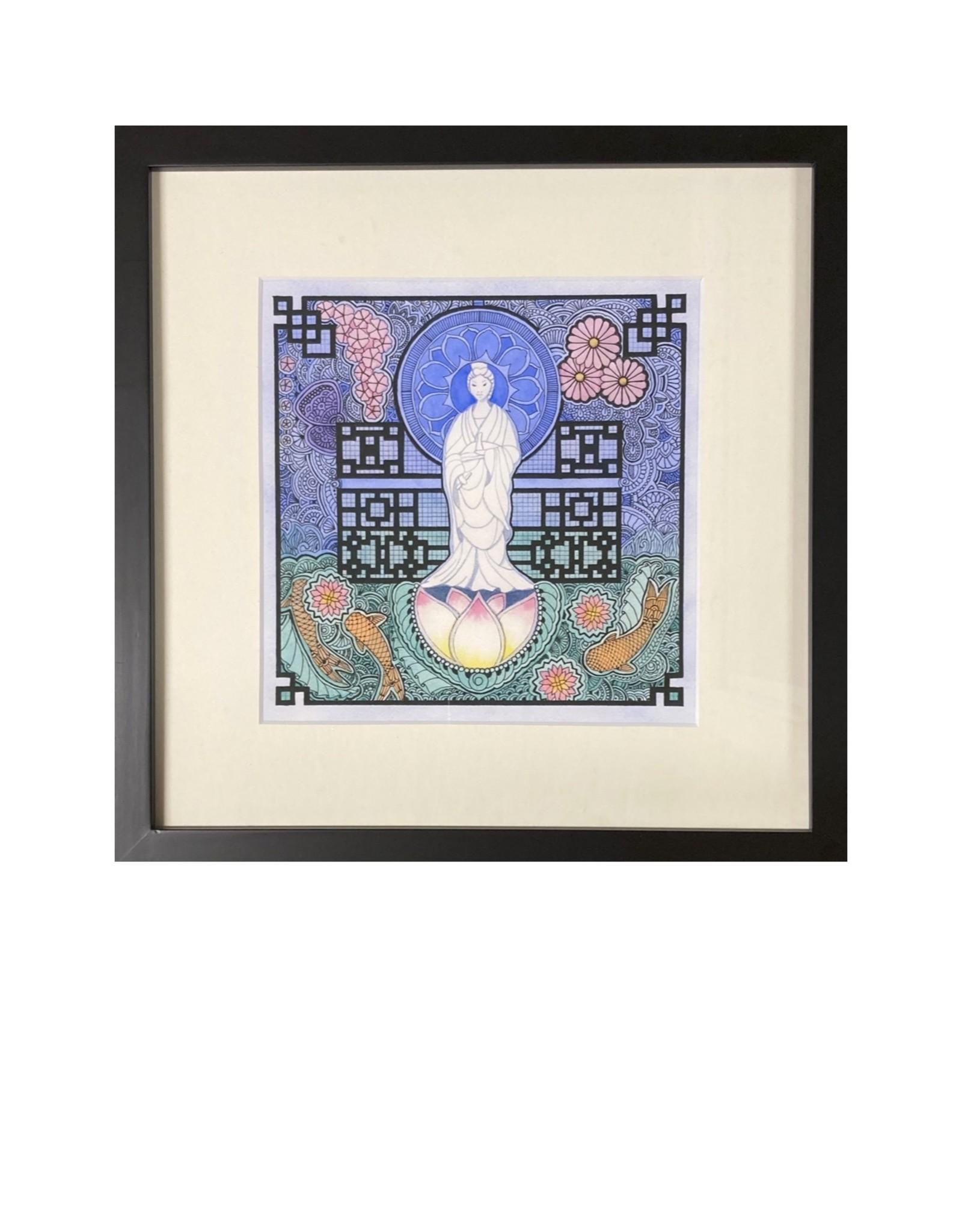 Kelly Casperson Kwan Yin framed print