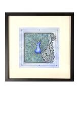 Kelly Casperson Peacock Fantasy framed print