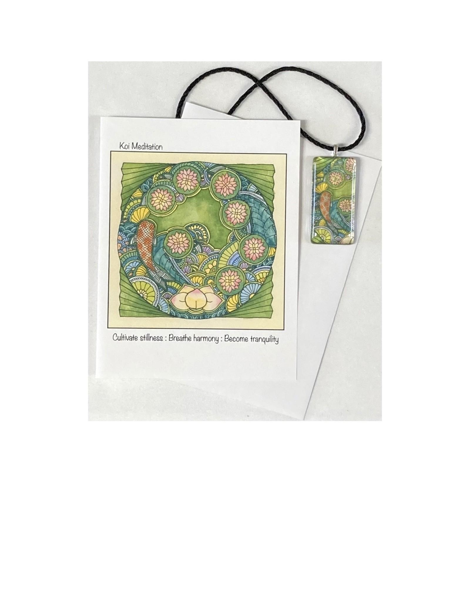 Kelly Casperson Koi Meditation pendant & card