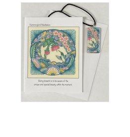 Kelly Casperson Hummingbird Meditation pendant & card