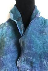 Ammi Brooks Nuno Felted Chiffon Blue/Turk Scarf