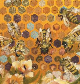 "Jennifer Cook-Chrysos Chrysos Designs Artworks, ""Hive Mind"", archival print, 8 x 20"