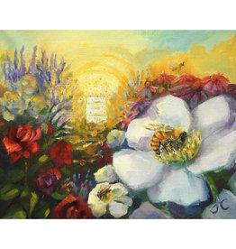 "Jennifer Cook-Chrysos Chrysos Designs Artworks, ""Honey Bee Home"", Archival Print, 16 x 20"