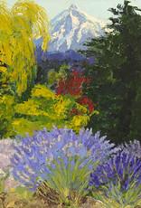 """Guest Artist, Nancy Klos """"Mt Hood Lavender"""" original  N. Klos"""