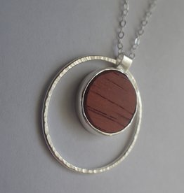 Lilly Parker Iron Lilly African Padauk Pendant