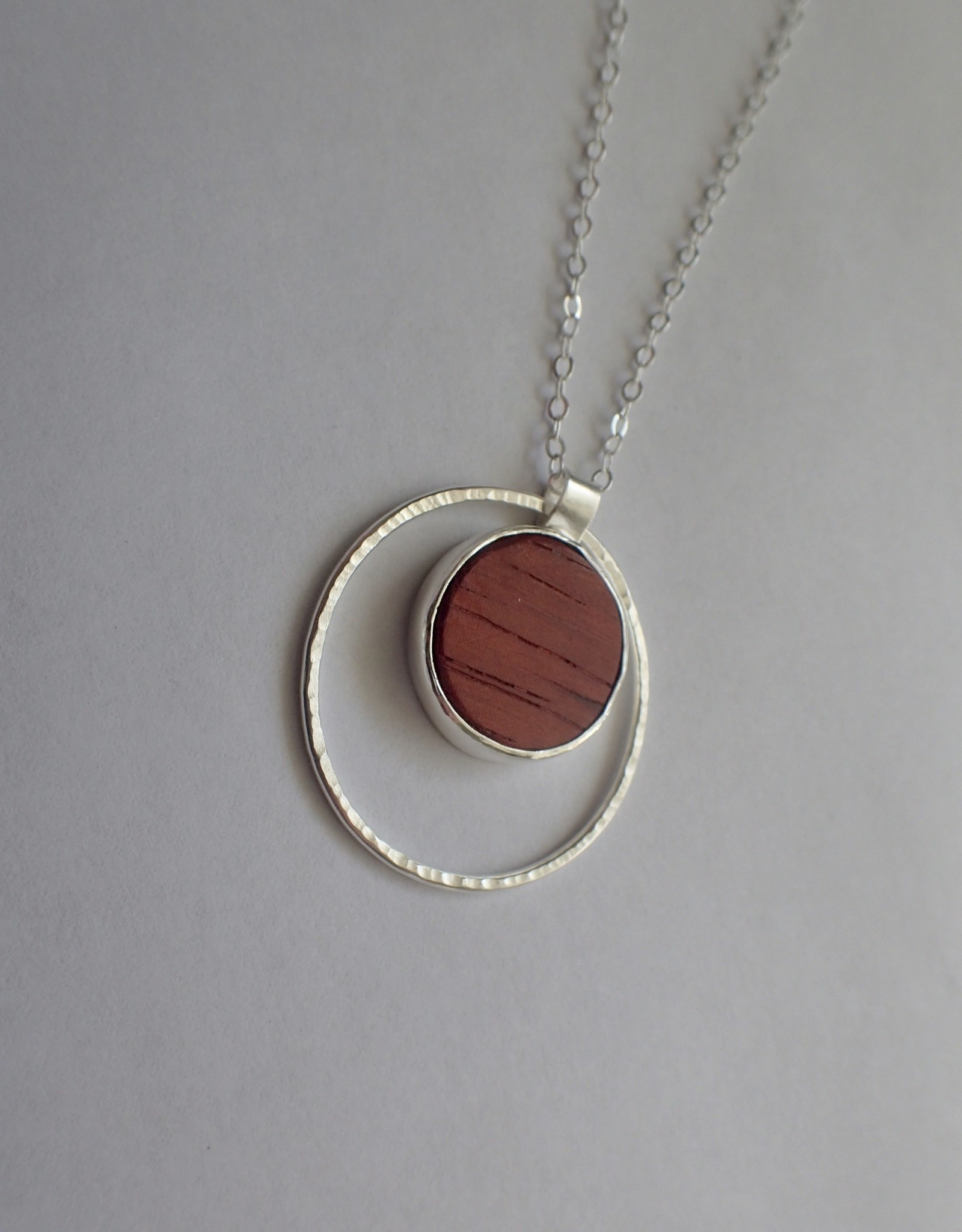 Lilly Parker African Padauk, Sterling Silver Pendant