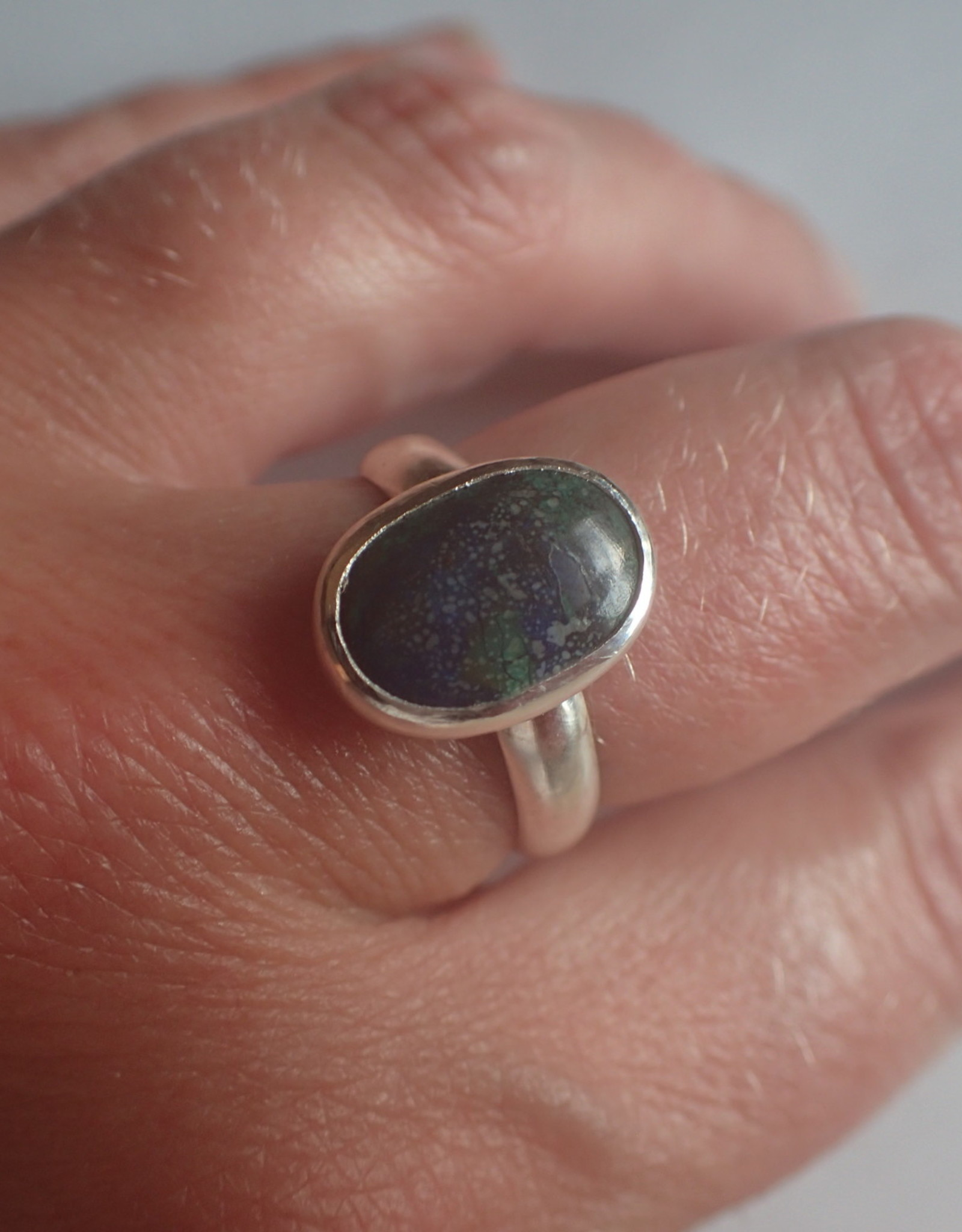 Lilly Parker Azurite Malachite Sterling Silver Ring