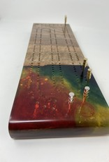 """Ron and Ellie Purvis MHC - """"Celebrate"""" Cribbage Board"""