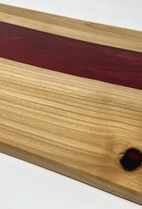 """Ron and Ellie Purvis MHC - """"Red Dawn""""  Wood and Resin Serving Tray"""