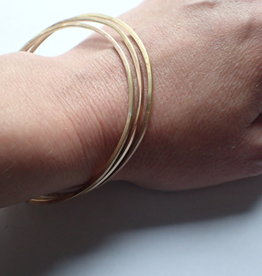 Lilly Parker Brass Bangles, Square Wire (set of 3)