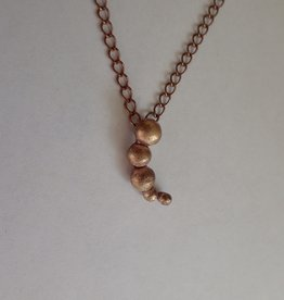 """Lilly Parker Copper """"Pebble"""" necklace"""