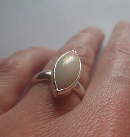 Lilly Parker Fire Opal, Sterling Silver Ring, Size 7.25