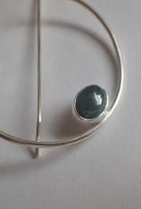 Lilly Parker Malachite, Sterling Silver Hoop Earrings