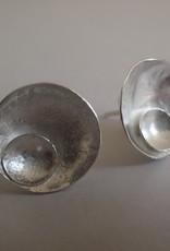 Lilly Parker Moon In Orbit, Sterling Silver Stud Earrings
