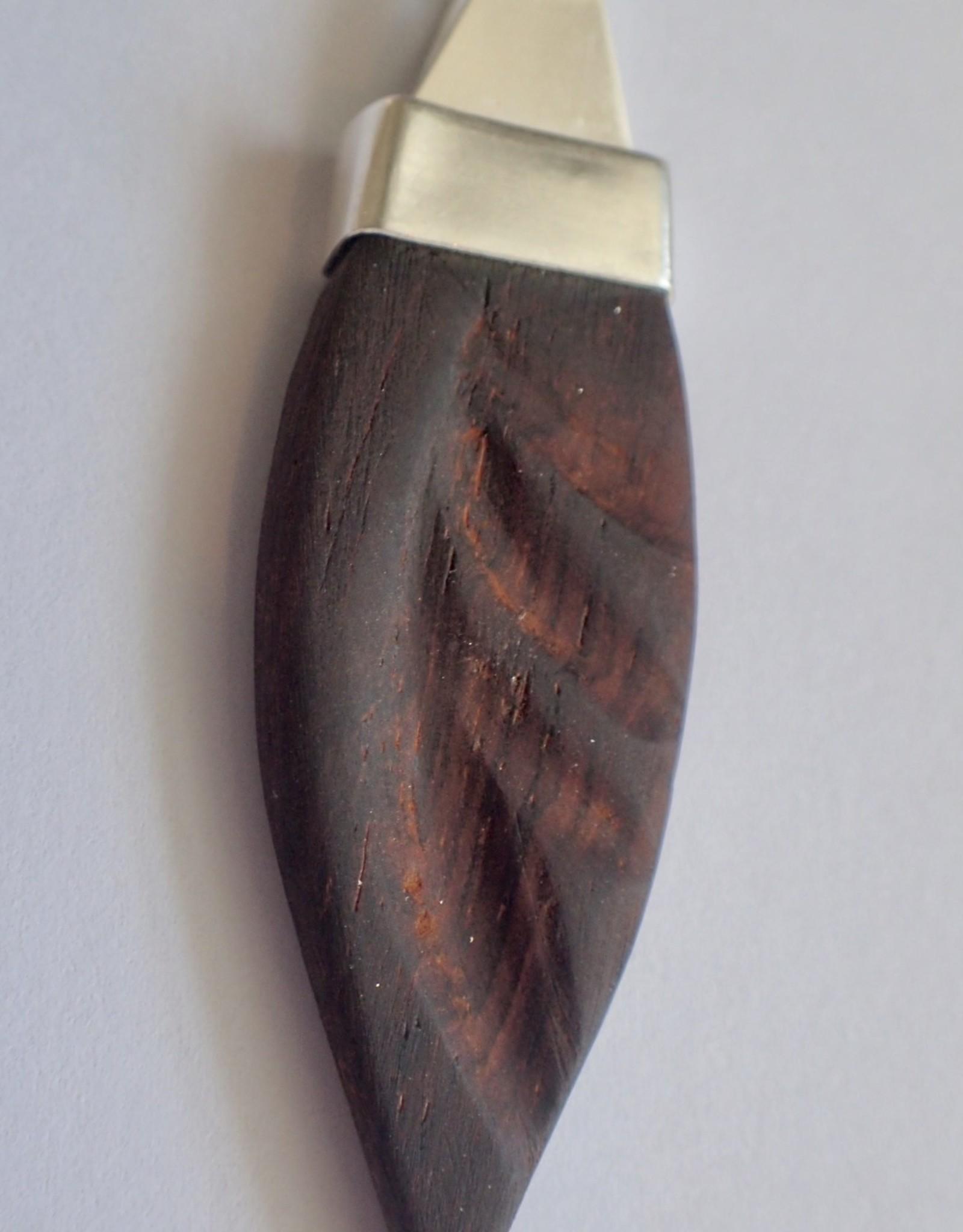 Lilly Parker Purple Heart Wood, Sterling Silver Pendant