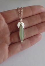 Lilly Parker Siberian Jade. Sterling Silver Pendant