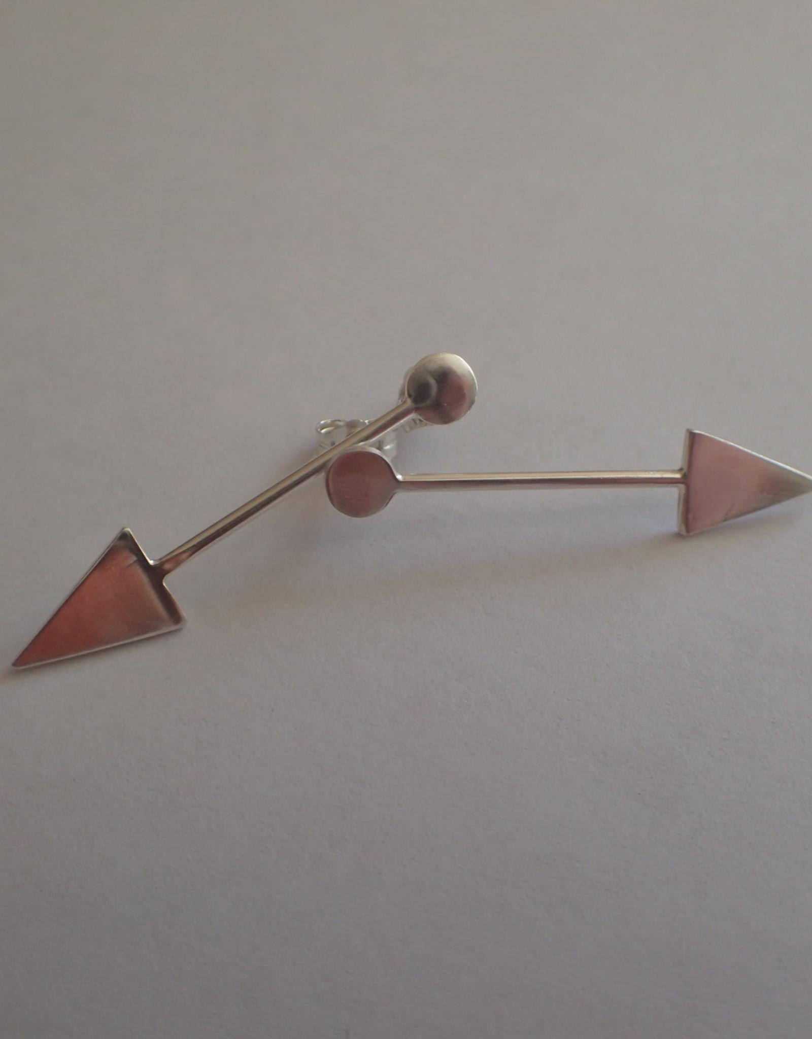 Lilly Parker Sterling Silver Arrow Post Earrings