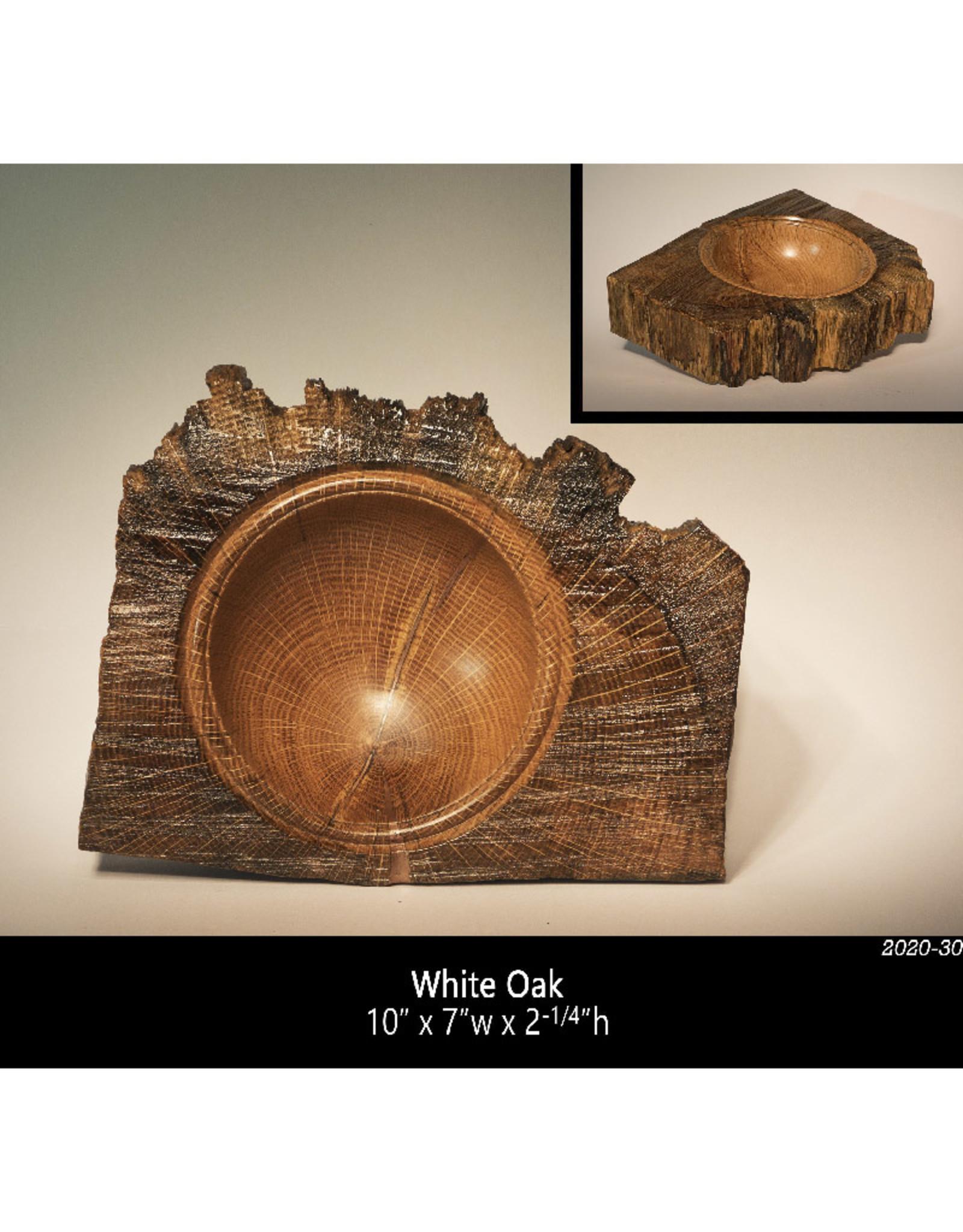 Guest Artist, Jeff Strickler 2020-30 White Oak Slab Bowl Jeff Strickler