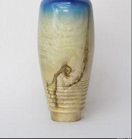 Guest Artist, Jeff Strickler 2021-36 Blue vase Jeff Strickler