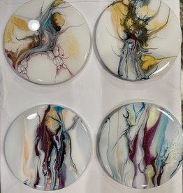 Joanne Cavallaro Art coasters minimal