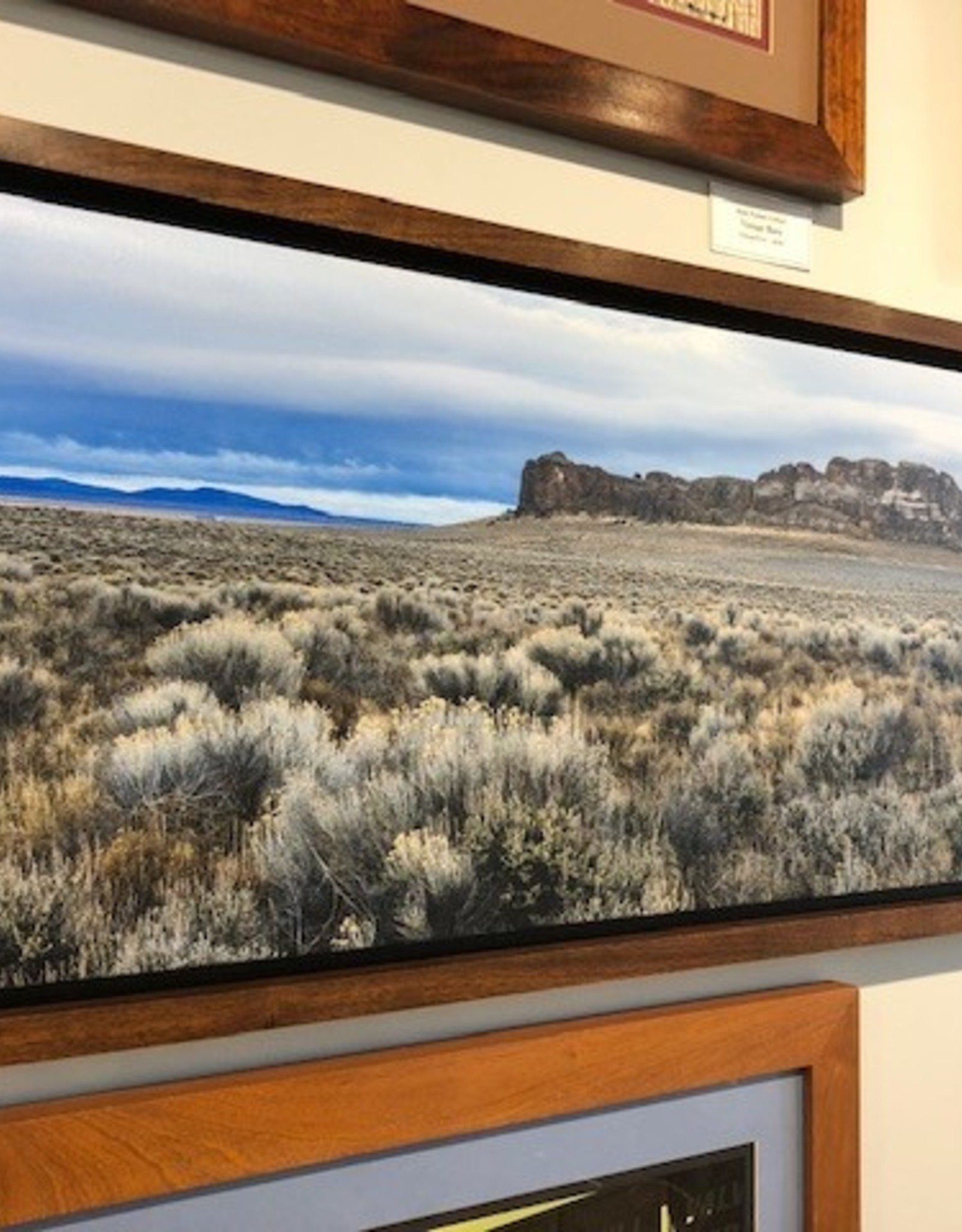 """Mark Clifford Fort Rock, 14"""" by 42"""" framed photographic print"""