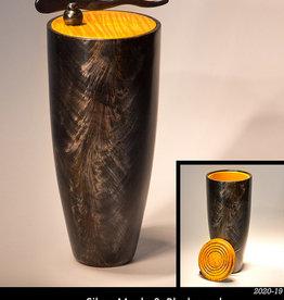 Guest Artist, Jeff Strickler 2020-19 Silver Maple & Blackwood Vase (lidded) Jeff Strickler