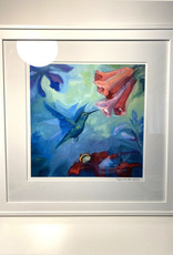 "Jennifer Cook-Chrysos Chrysos Designs Artworks ""Symbiosis II"", Archival Print, Framed, 16x16"