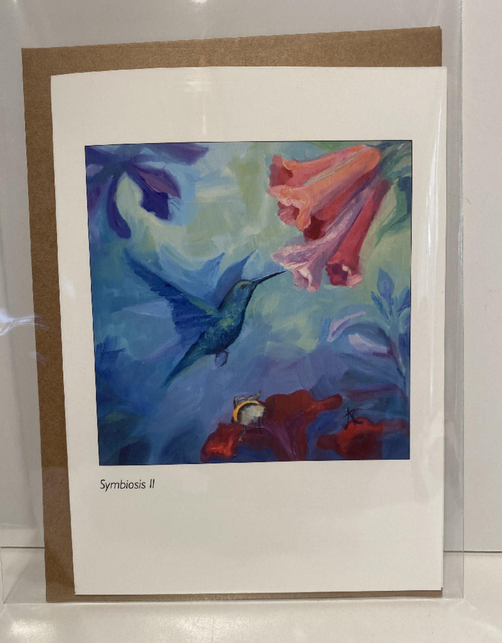 Jennifer Cook-Chrysos Chrysos Designs Artworks, Symbiosis II Greeting Card, 5 x 7