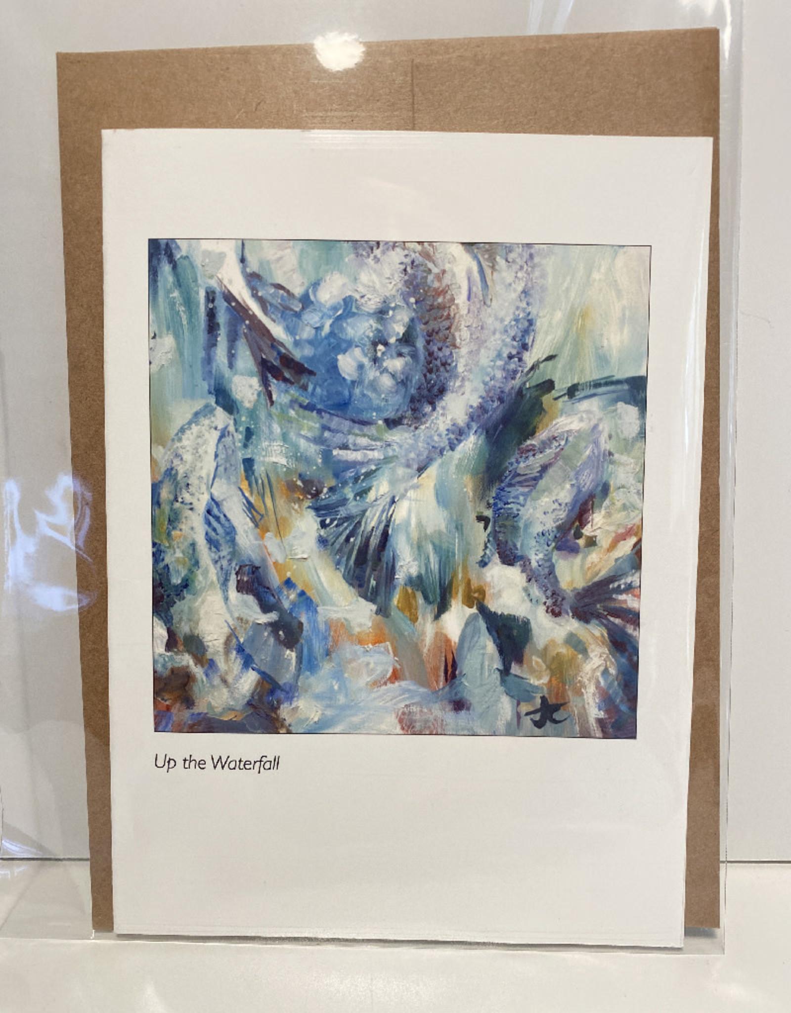 Jennifer Cook-Chrysos Chrysos Designs Artworks, Greeting Card, Up the Waterfall, 5 x 7