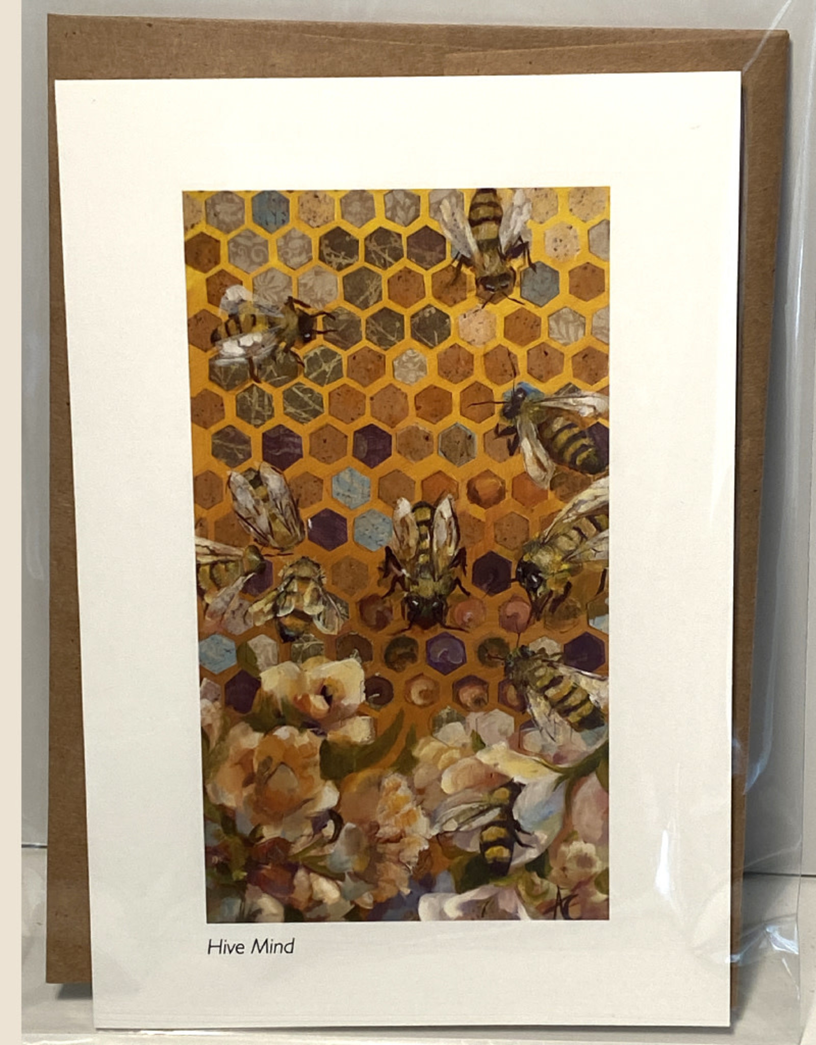Jennifer Cook-Chrysos Chrysos Designs Artworks, Hive Mind Greeting Card, 5 x 7