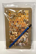 Jennifer Cook-Chrysos Chrysos Designs Artworks, Moleskine sketchbook, 5.5 x 7.5, Hive Mind cover and 3B art pencil.