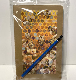 Jennifer Cook-Chrysos Moleskine sketchbook, 5.5 x 7.5, 80 pages, Hive Mind cover and 3B art pencil.